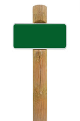 Green metal sign board signage copy space background white frame