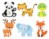 Fototapety Cute Animal Set