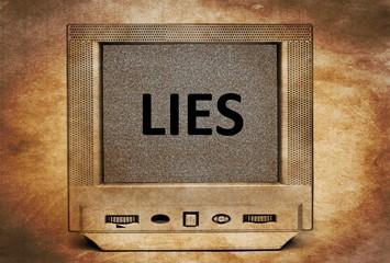 TV lies concept