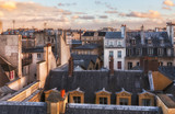 Paris rooftops in the historic heart of the city. Romantic view