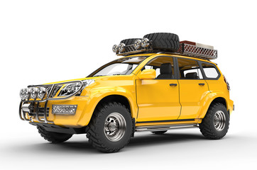 Big Yellow Modern SUV - packed