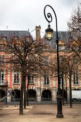 Paris lamppost with a spiral top