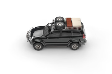Big Black Modern SUV - Top View
