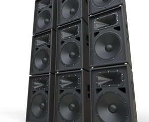 Huge loudspeakers