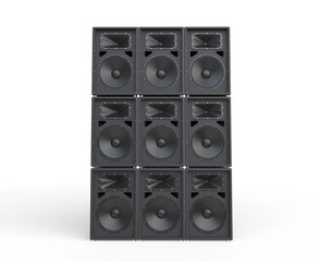 Loudspeakers stacked