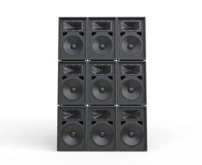 Loudspeakers stacked