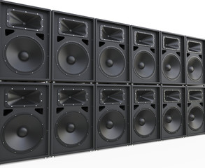 Endless rows of loudspeakers