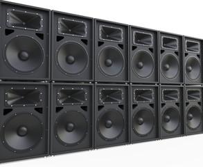 Endless rows of loudspeakers