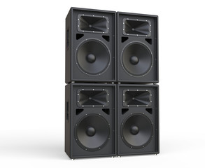 4 Concert Loudspeakers