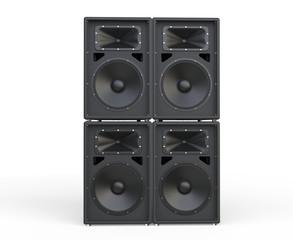 4 Concert Loudspeakers - front