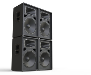 4 Concert Loudspeakers - side