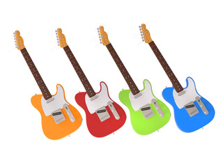 Bright and happy electric guitars