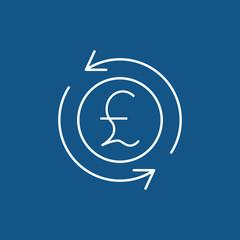 money convert pound icon