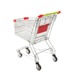 Empty Shopping Cart on the White Background