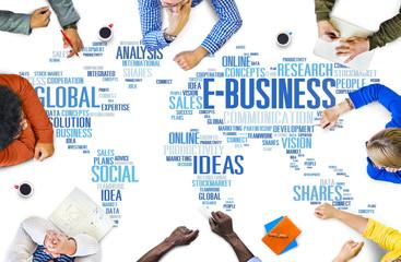 E-Business Global Business Commerce Online World Concept
