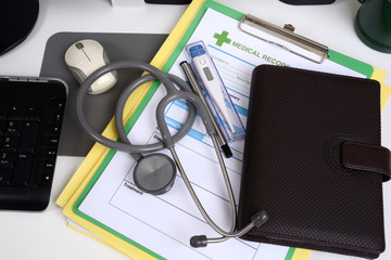 Medical record and medical equipment.