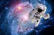 Leinwanddruck Bild - Astronaut Spaceman Galaxy Spiral