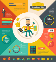 Multitasking Infographic Elements