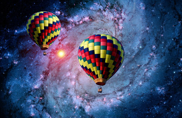 Surreal Landscape Balloon Galaxy