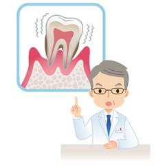 注意する医者 歯周病