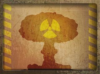 Vintage card: nuclear war