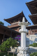 Roof Details of Chinese Temple in HongKong