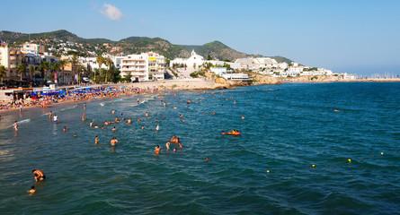 Mediterranean beach  in Sitges