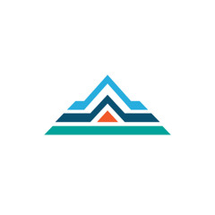 roof house triangle abstract vector logo