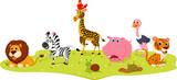 Fototapety Happy Wild Animal cartoon