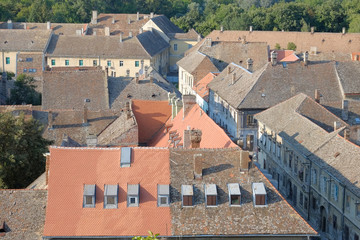 Rooftops Of Petrovaradin Old Town, Serbia