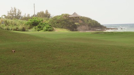 Golf course tropical island sports recreation