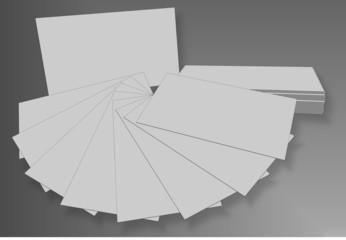 Business cards mockup blank