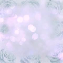 blue bokeh roses background