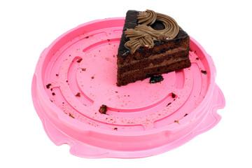 Cake decorated with cream