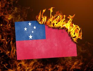 Flag burning - Samoa