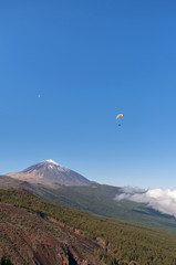 Paragliding on Teide Mountain. Tenerife