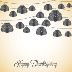 String Thanksgiving card in vector format.