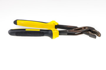 old pliers yellow and black color