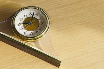 Alarm clock on with morrning sunlight