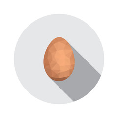 Geometric shape of egg. Easter egg triangular and isolated on
