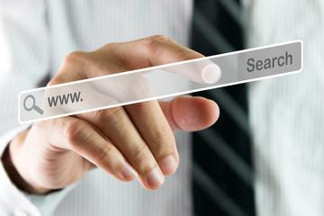 Hand searching on virtual screen
