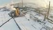 Industrial platform winter aerial