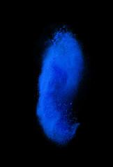 colorful powder splash on black background