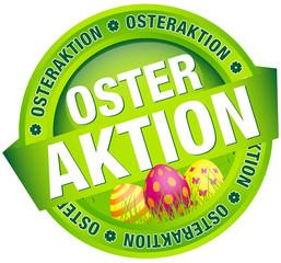 """Button Banner """"Osteraktion"""" Ostereier grün/pink"""