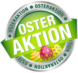"""Button Banner """"Osteraktion"""" Ostereier grün/silber/pink"""
