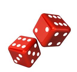 Falling dice for gambling