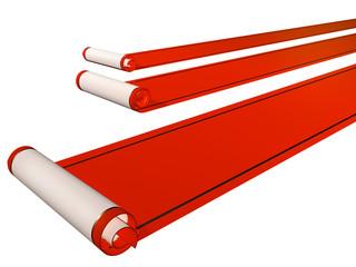 Three red carpets