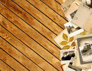 Grunge background with retro photos