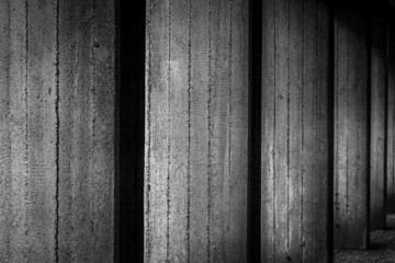 concrete wall - black and white