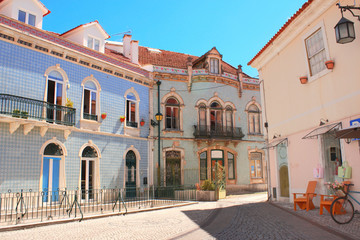 Medieval houses in Alcobaca, Portugal